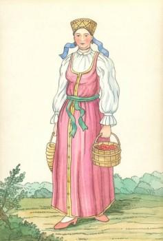 Валдайская девка с баранками Рисунок 1799 года - P1S3MG0khkg.jpg