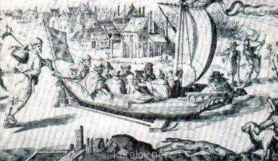 Создадим протосценарий фильма Как царь Пётр карела белил ? - Голландский ледовый буер, 1605г.jpg