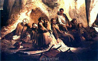 Создадим протосценарий фильма Как царь Пётр карела белил ? - В пещере компания.jpg