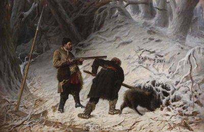 Создадим протосценарий фильма Как царь Пётр карела белил ? - Охота на медведя зимой ВПеров.jpg